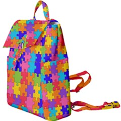 Jigsaw Rainbow Buckle Everyday Backpack by TimelessFashion