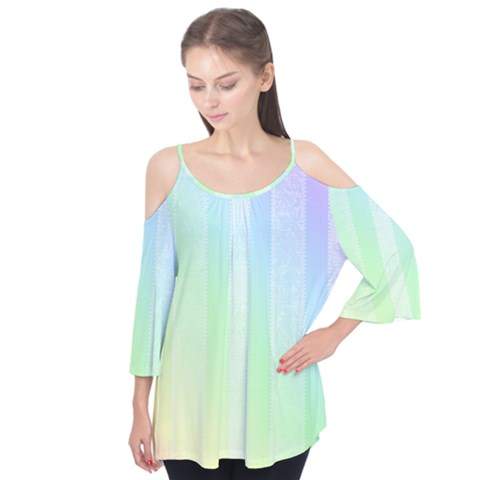 Lace On A Rainbow Flutter Tees by TimelessFashion