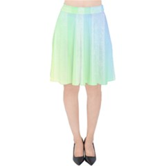 Lace On A Rainbow Velvet High Waist Skirt by TimelessFashion