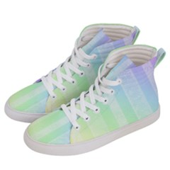 Lace On A Rainbow Men s Hi Top Skate Sneakers by TimelessFashion