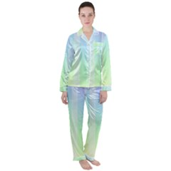 Lace On A Rainbow Satin Long Sleeve Pyjamas Set by TimelessFashion