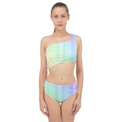 Lace On A Rainbow Spliced Up Two Piece Swimsuit by TimelessFashion