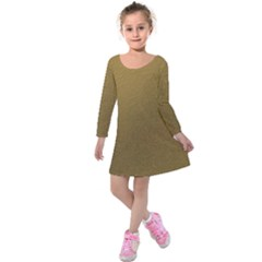 Gold Sensation Kids  Long Sleeve Velvet Dress by TimelessFashion