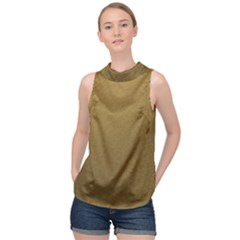 Gold Sensation High Neck Satin Top by TimelessFashion