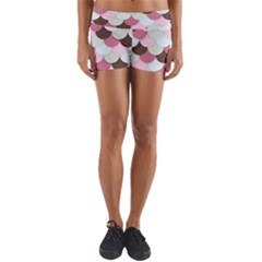 Fishy In Pink Yoga Shorts by TimelessFashion