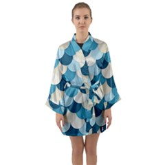 Fishy In Blue Long Sleeve Kimono Robe by TimelessFashion