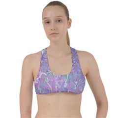 Pink Fusion Criss Cross Racerback Sports Bra by TimelessFashion