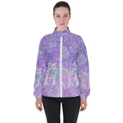 Pink Fusion Women s High Neck Windbreaker