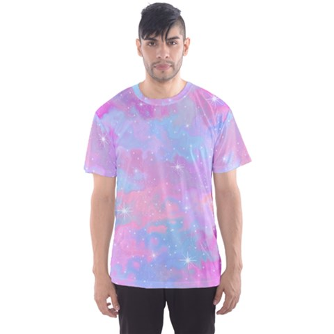 Pink And Blue Sensation Men s Sports Mesh Tee by TimelessFashion