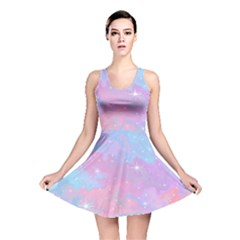 Pink And Blue Sensation Reversible Skater Dress by TimelessFashion