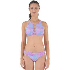 Pink And Blue Sensation Perfectly Cut Out Bikini Set by TimelessFashion