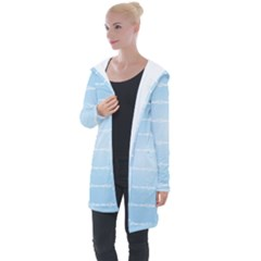 Pastel In Blue Longline Hooded Cardigan by TimelessFashion