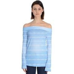Pastel In Blue Off Shoulder Long Sleeve Top by TimelessFashion