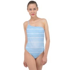 Pastel In Blue Classic One Shoulder Swimsuit by TimelessFashion