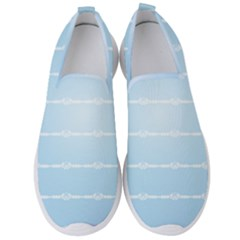 Pastel In Blue Men s Slip On Sneakers by TimelessFashion