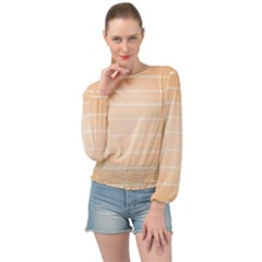 Pastel In Orange Banded Bottom Chiffon Top by TimelessFashion