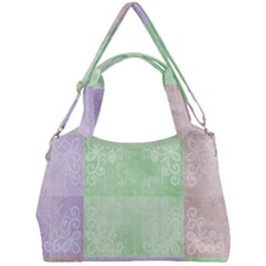 Pastel Quilt Double Compartment Shoulder Bag by TimelessFashion
