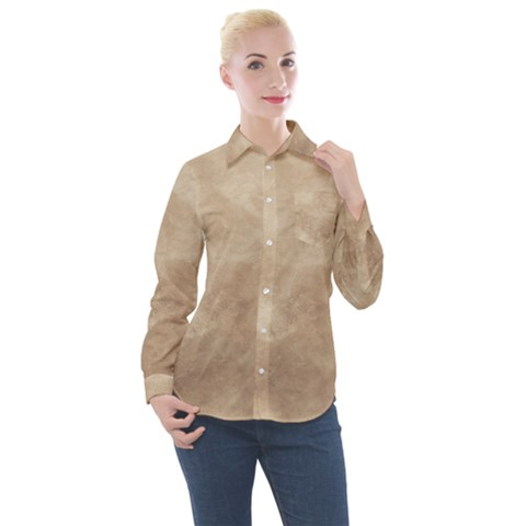 Little Cloudy Women s Long Sleeve Pocket Shirt by TimelessFashion