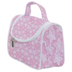 Romantic Little Flowers In Pink Satchel Handbag