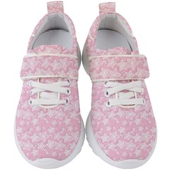 Romantic Little Flowers In Pink Kids  Velcro Strap Shoes by TimelessFashion