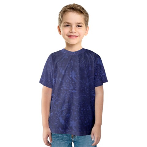 Romantic Blue Flowers Kids  Sport Mesh Tee by TimelessFashion