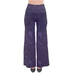 Romantic Purple Flowers So Vintage Palazzo Pants by TimelessFashion