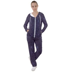Romantic Purple Flowers Women s Tracksuit by TimelessFashion