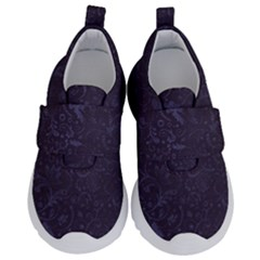 Romantic Purple Flowers Kids  Velcro No Lace Shoes by TimelessFashion