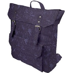 Romantic Purple Flowers Buckle Up Backpack by TimelessFashion