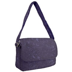 Romantic Purple Flowers Courier Bag by TimelessFashion
