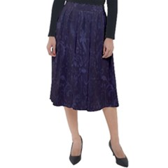 Romantic Purple Flowers Classic Velour Midi Skirt  by TimelessFashion