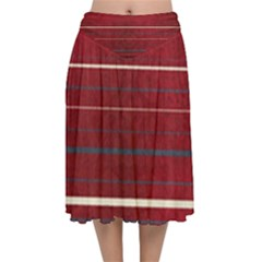 Red Passion Velvet Flared Midi Skirt by TimelessFashion
