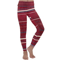 Red Passion Kids  Lightweight Velour Classic Yoga Leggings by TimelessFashion