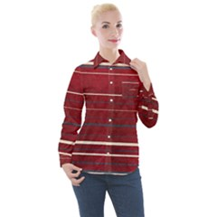 Red Passion Women s Long Sleeve Pocket Shirt