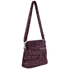 Romance In Dark Red Zipper Messenger Bag by TimelessFashion