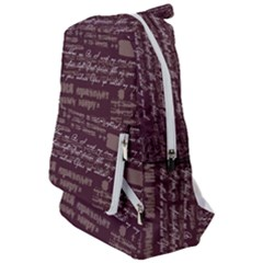 Romance In Dark Red Travelers  Backpack