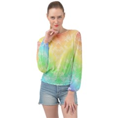 Rainbow Desire Banded Bottom Chiffon Top by TimelessFashion