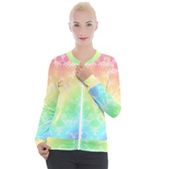 Rainbow Desire Casual Zip Up Jacket by TimelessFashion