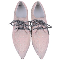 Sweet Flowers In Soft  Pink Pointed Oxford Shoes by TimelessFashion