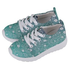 Sweet Flowers In Turquoise Kids  Lightweight Sports Shoes by TimelessFashion