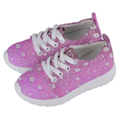 Sweet Flowers In Pink Kids  Lightweight Sports Shoes by TimelessFashion