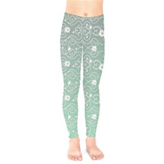 Sweet Flowers In Green Kids  Legging by TimelessFashion