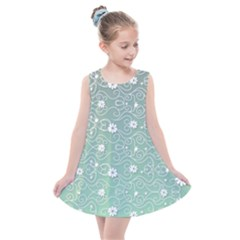 Sweet Flowers In Green Kids  Summer Dress by TimelessFashion