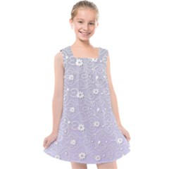 Sweet Flowers In Purple Kids  Cross Back Dress by TimelessFashion