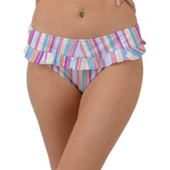 Sweet Stripes Frill Bikini Bottom by TimelessFashion