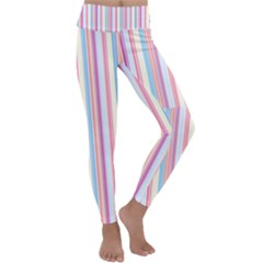 Sweet Stripes Kids  Lightweight Velour Classic Yoga Leggings by TimelessFashion