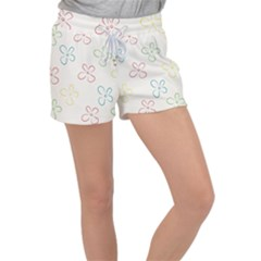 Sweet Flowers Women s Velour Lounge Shorts by TimelessFashion