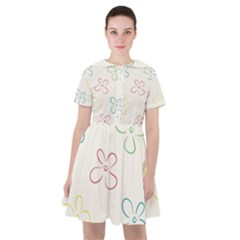 Sweet Flowers Sailor Dress