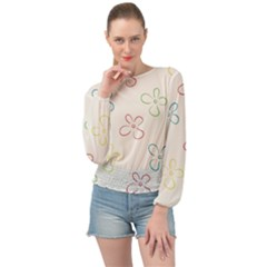 Sweet Flowers Banded Bottom Chiffon Top by TimelessFashion