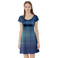 Unity Of Lines Short Sleeve Skater Dress by TimelessFashion